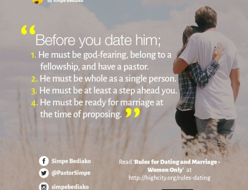 Pastors dating rules